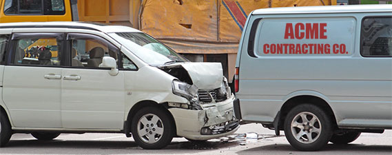 Photo: Car Accident While at Work