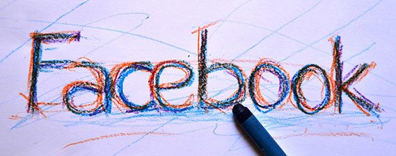 Photo: Facebook written in crayon